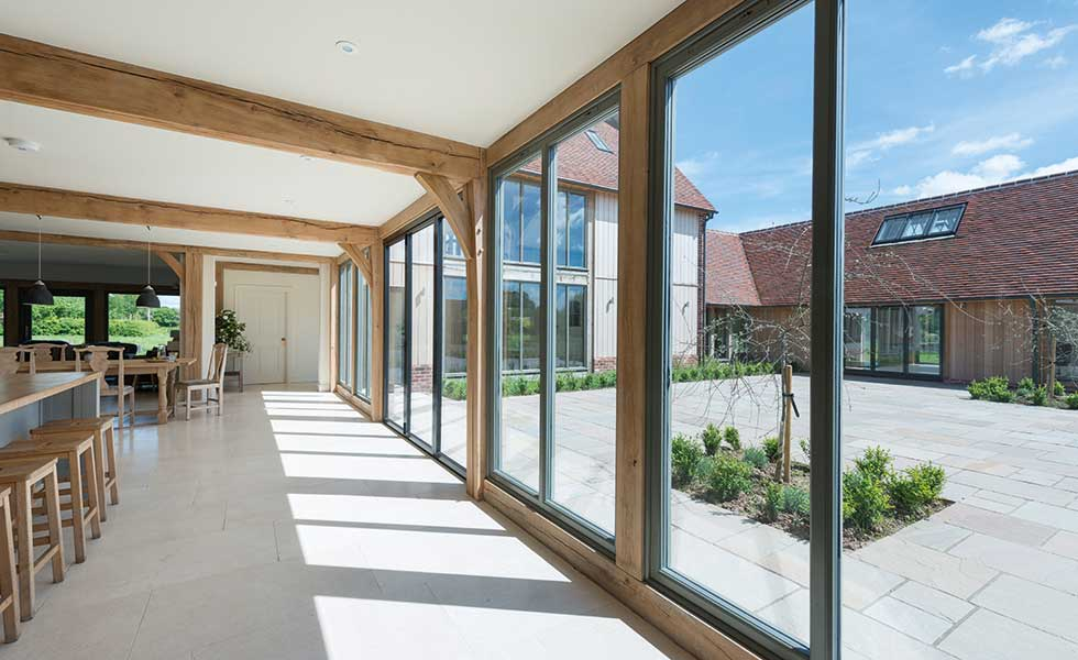 Courtyard home design trends allows for a wrap around outdoor area which the internal spaces can look out onto