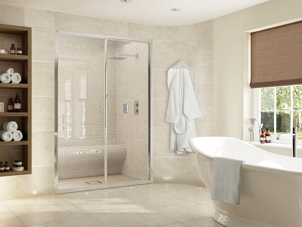 Aquata integrated bathroom steam room