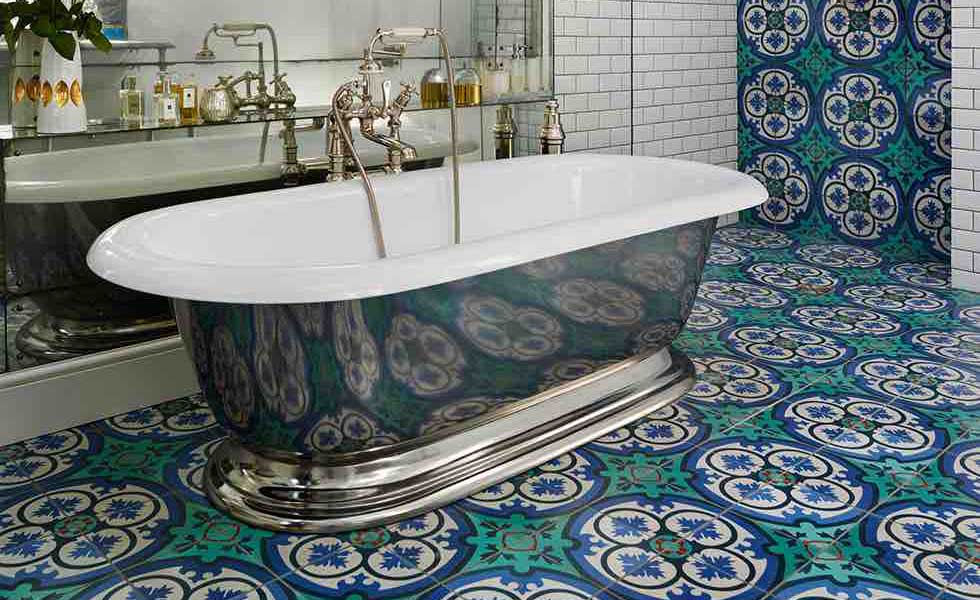 Drummonds decorative bathroom tiles
