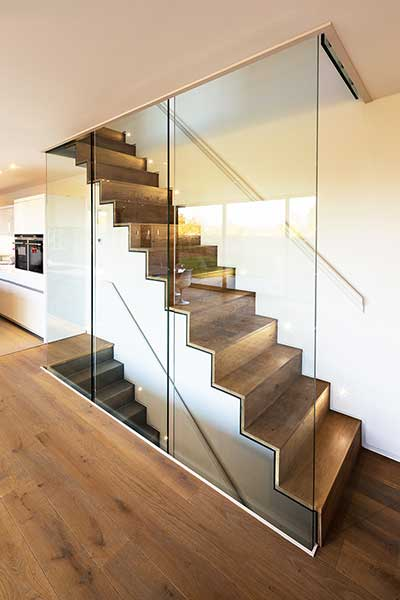 contemporary sips self build feature stairs