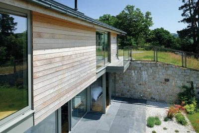 sloping site organic self build