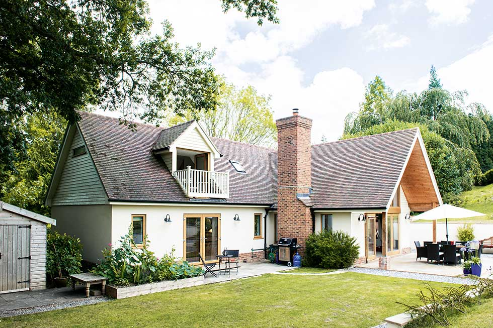 traditional style self build home