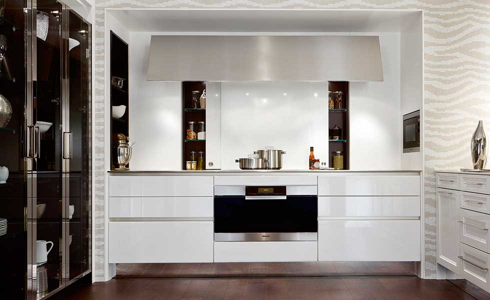 SieMatic kitchen with sleek built in cupboards and appliances