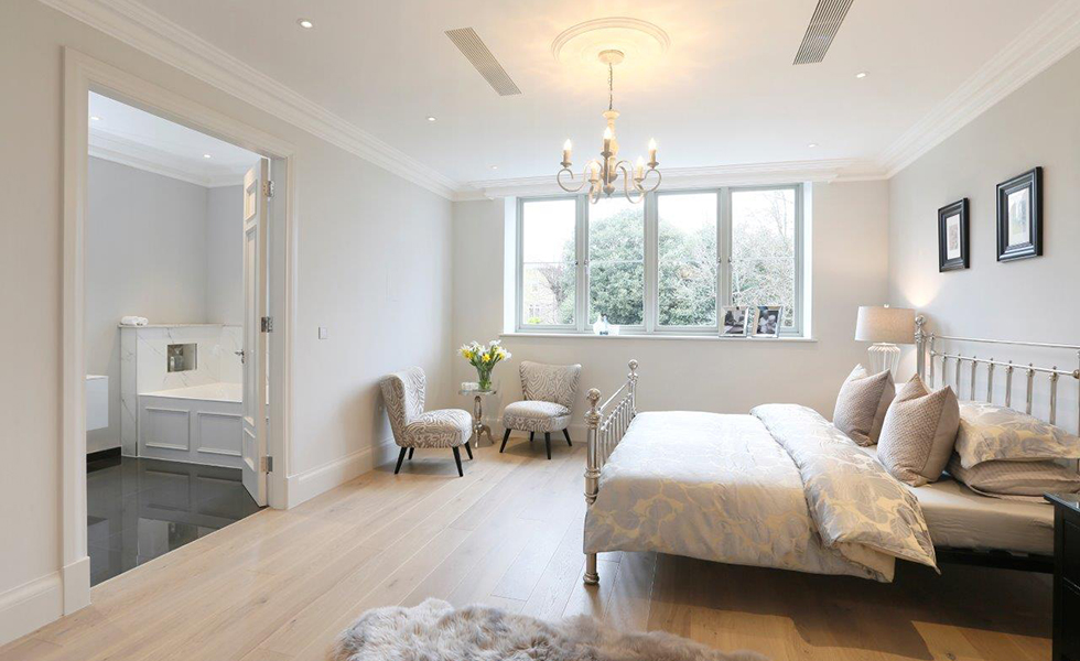 sustainable timber windows in bedroom
