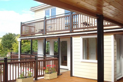 Norfolk Homes cladding balcony