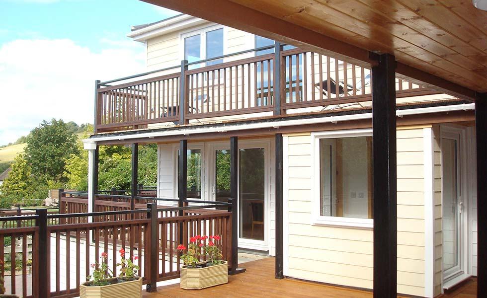 Norfolk Homes cladding balcony