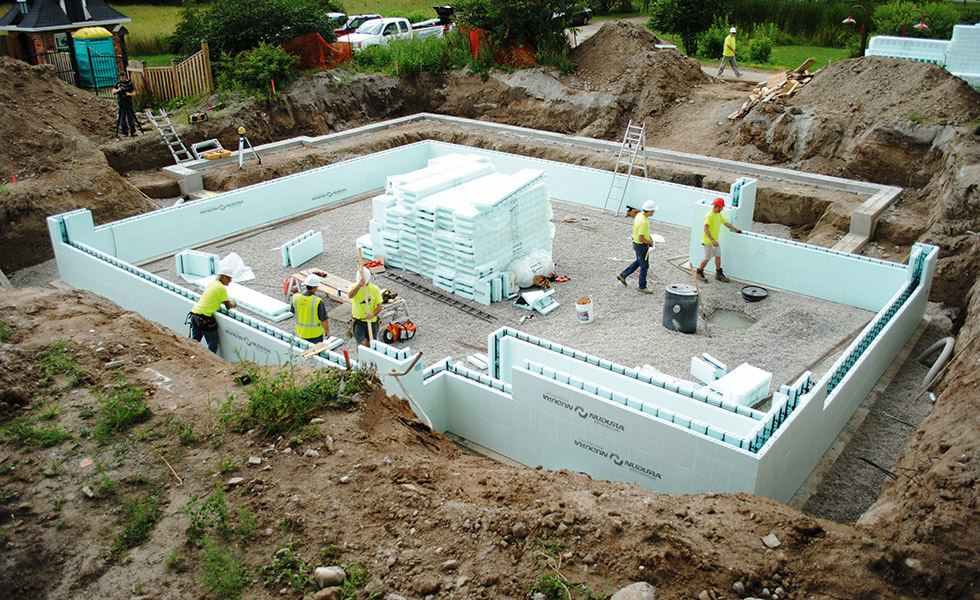 ICF walls on ground floor build up