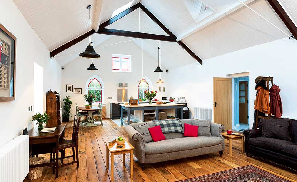 Open Plan Living in a Victorian Tin Chapel