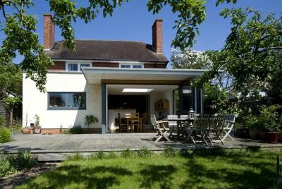 Allister Godfrey architects single storey extension to Edwardian villa