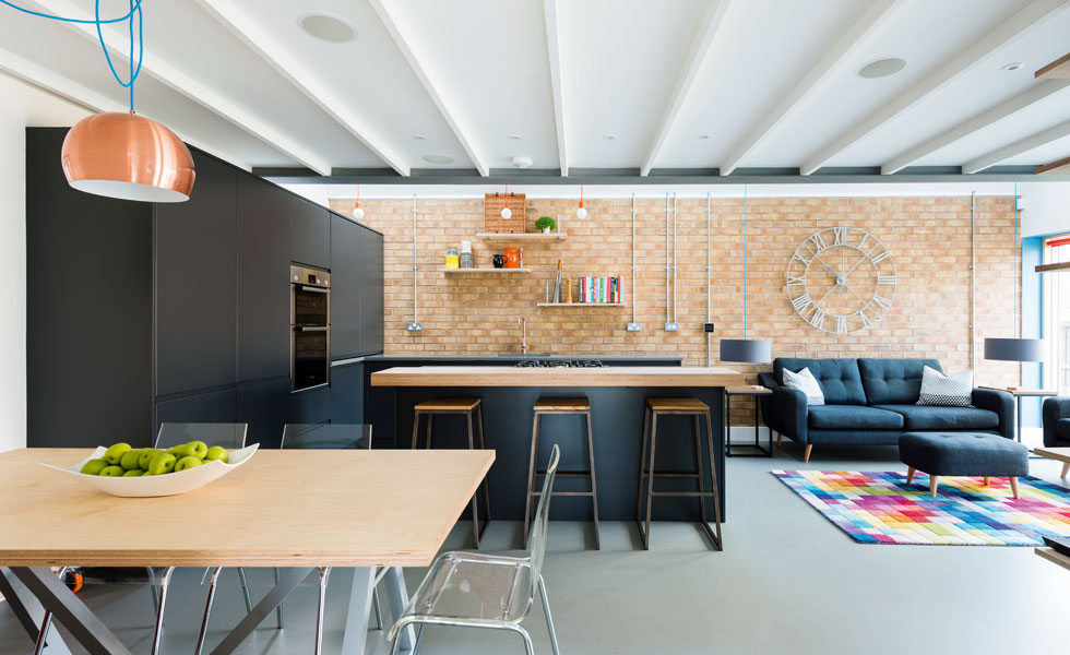 Marvelous Combining The Kitchen, Dining And Living Spaces Maximises Limited Space And  Natural Lighting. The Industrial Style Used Throughout Unites The Areas, ...