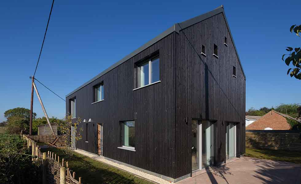 A timber-clad Passivhaus self build