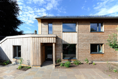 triple glazing in house exterior