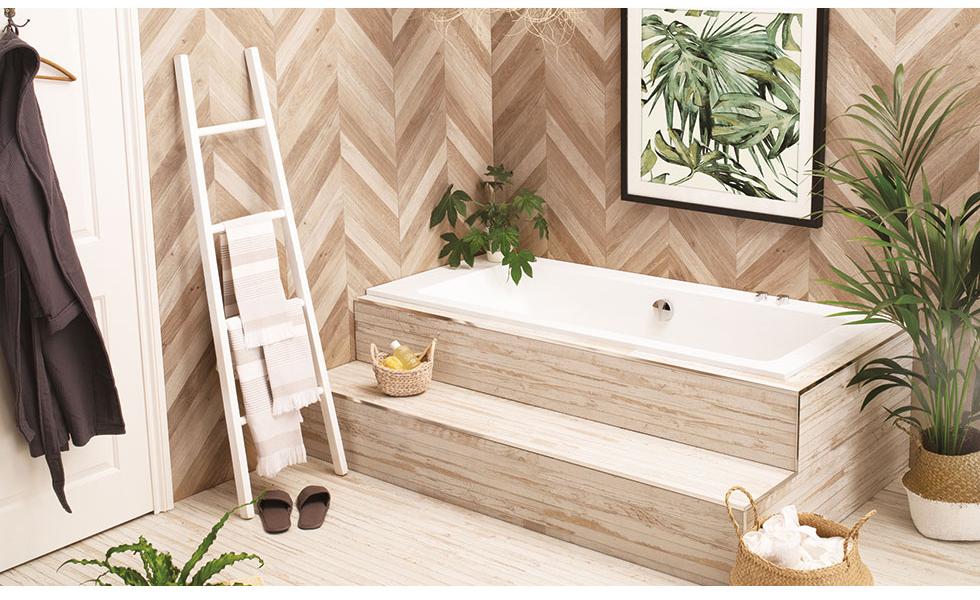 Sunken bath with steps