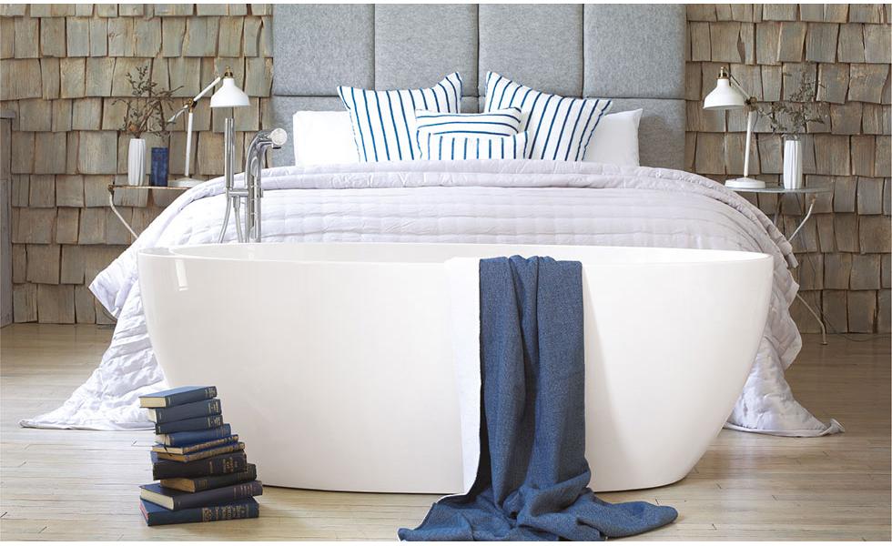 Bath in a bedroom