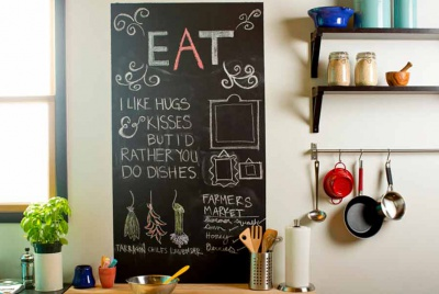rust-oleum chalk board eat kitchen