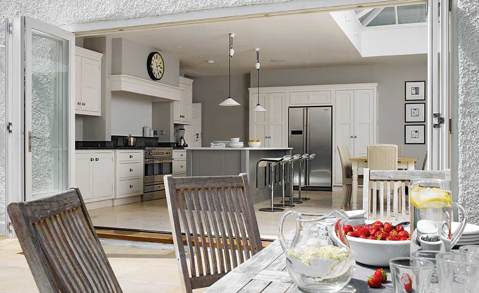 kitchen design 4m x 4m. martin moore kitchen diner with bifold doors design 4m x