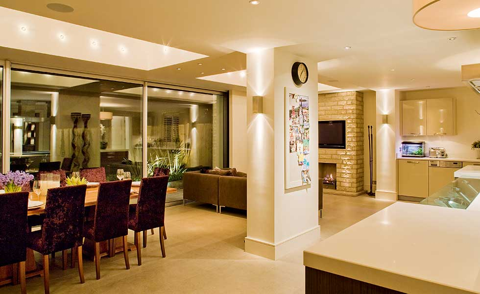kitchen design lighting. Kitchen Open Plan Lighting Scheme Design E