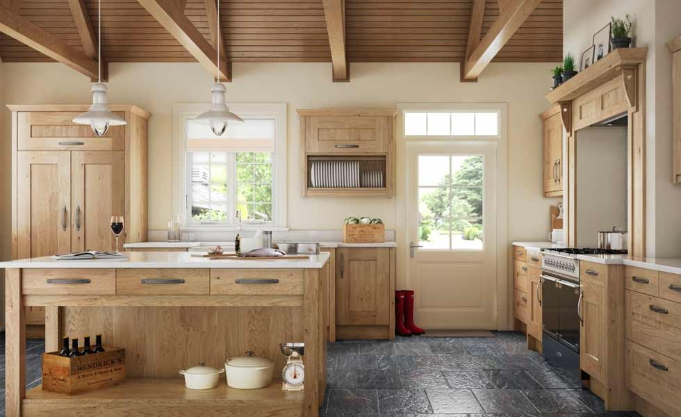 terence ball traditional kitchen slate floor oak units