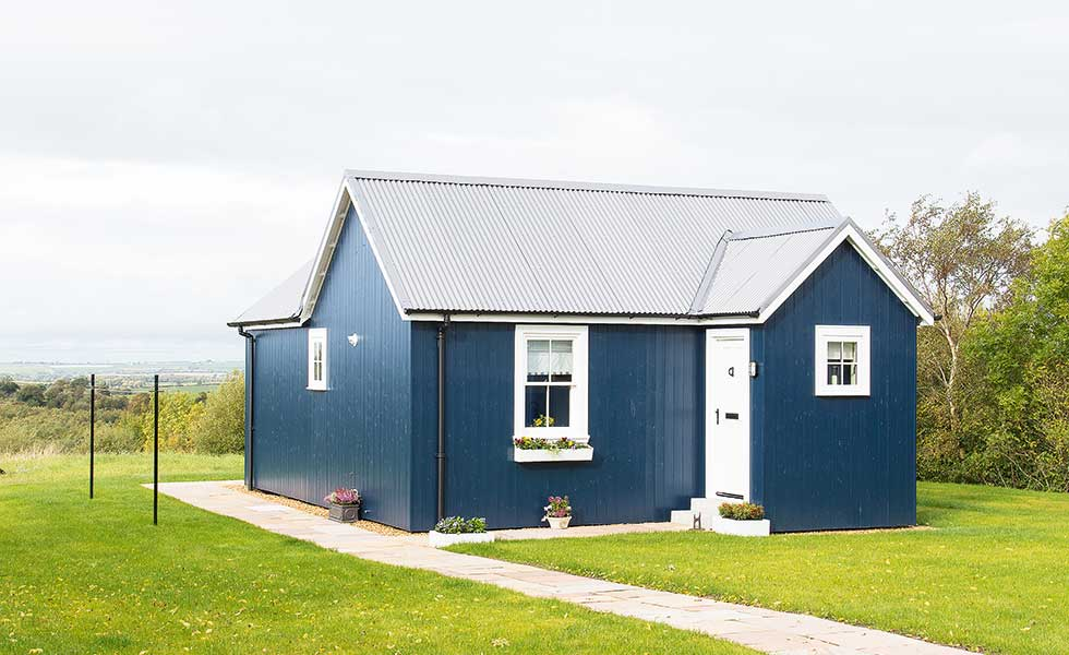 Lovely Build A House For 150k #10: Blue Panelled Self Build With Corrugated Roof In Scotland