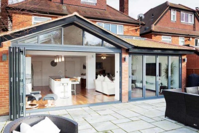 Single storey extension to brick property