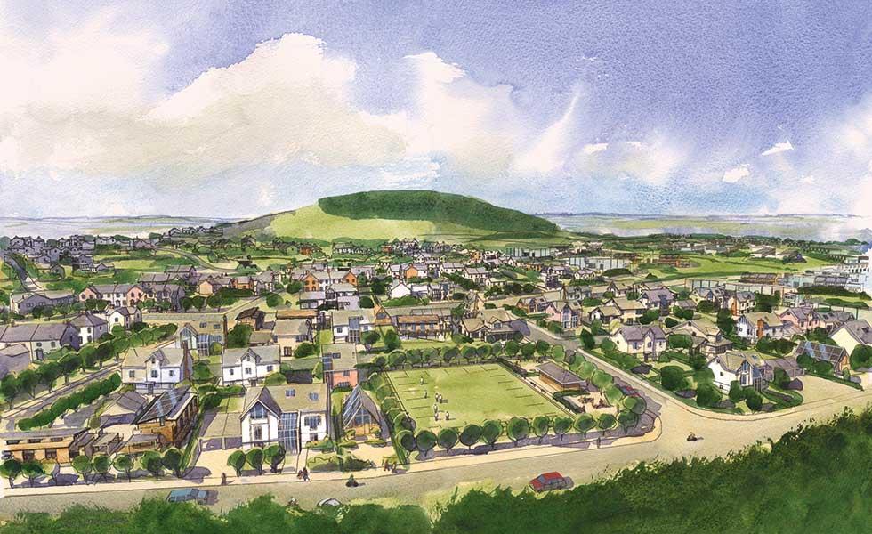 Graven Hill serviced plot site in Cherwell