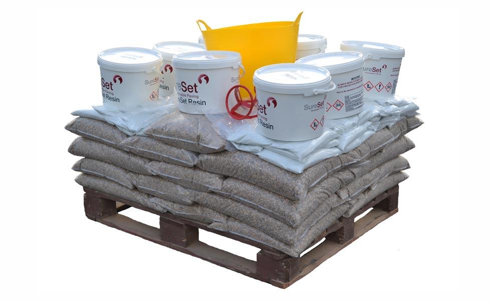 sureset trade pack diy buckets gravel pallet