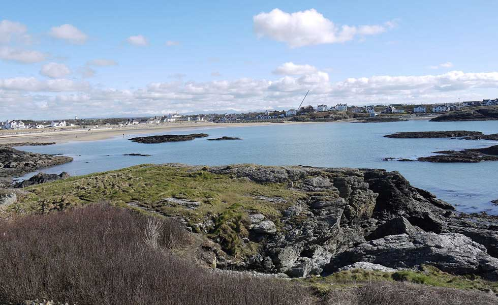 beach and coast view from Anglesey chalet bungalow renovation