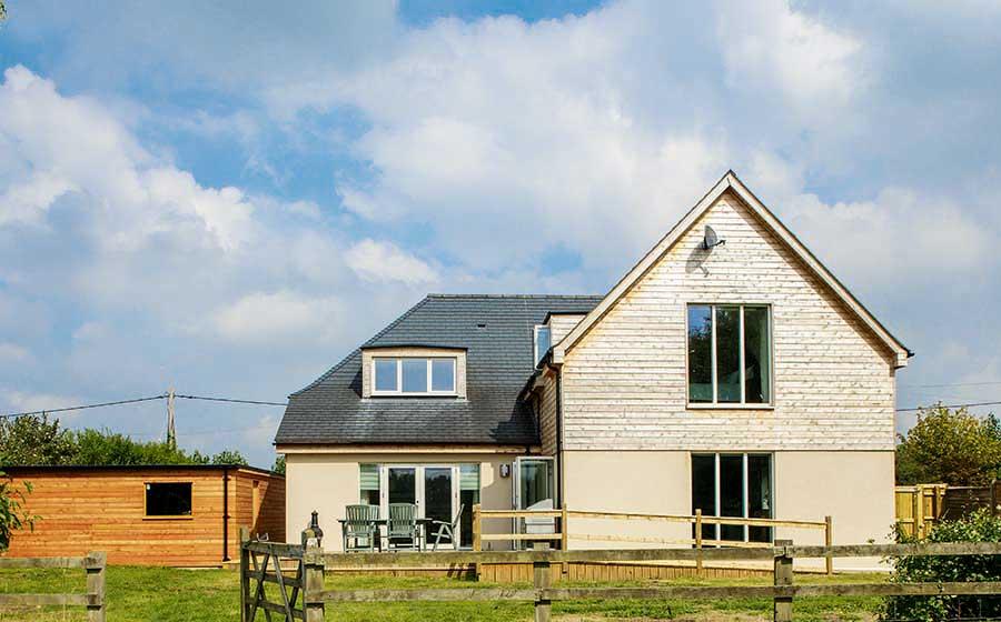 Exterior of budget eco home