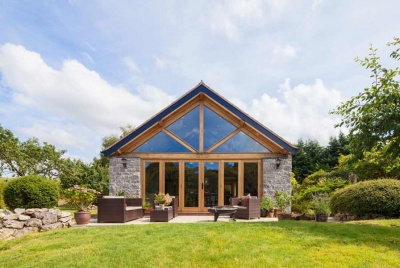 harkin welsh oak frame timber house beams lawn