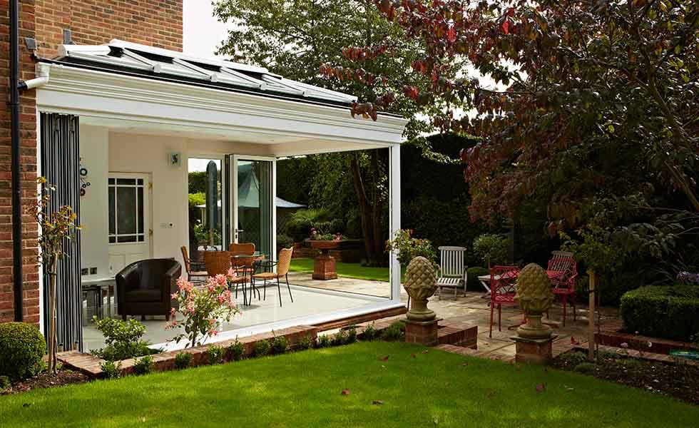 origin pollins house open plan living green grass