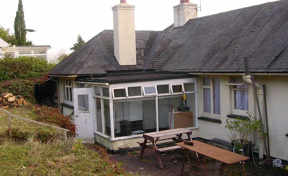 dilapidated bungalow