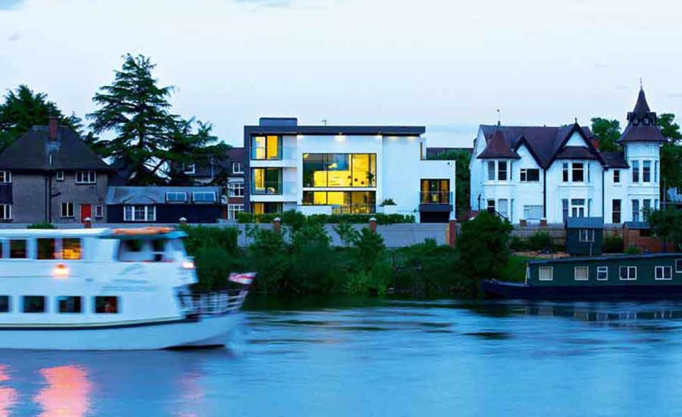 contemporary riverside home