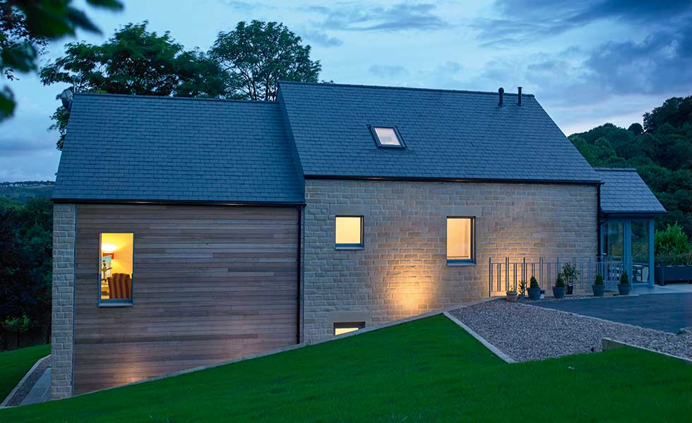 stone and timber Passivhaus home in Yorkshire