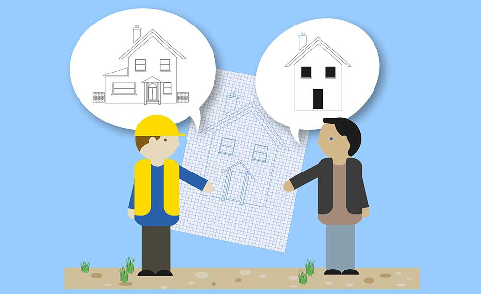 illustration of builders quotes and budget