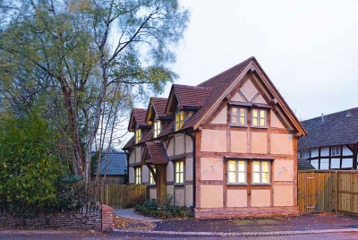 An oak frame budget self build from Oakwrights