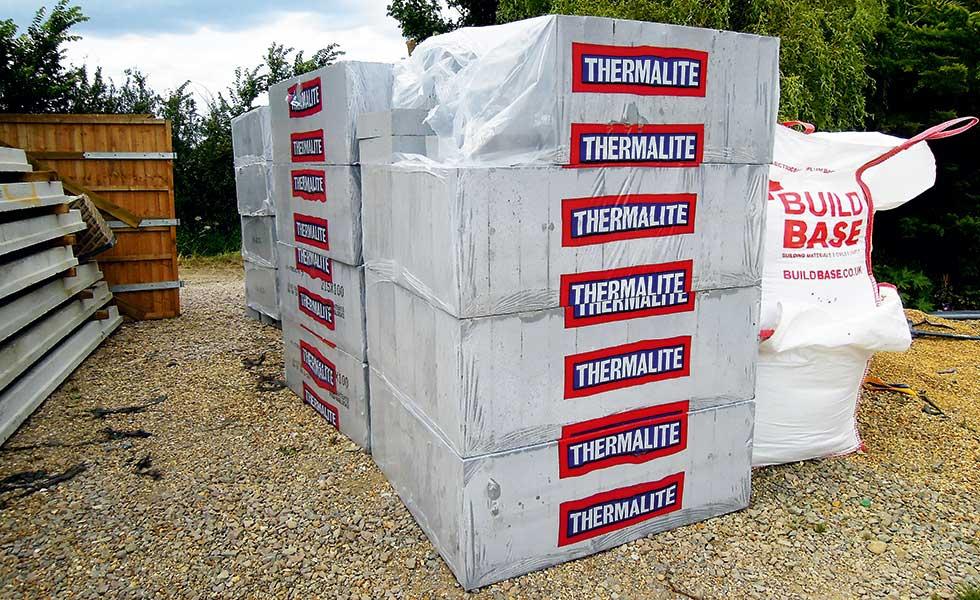 Thermalite aerated concrete blocks