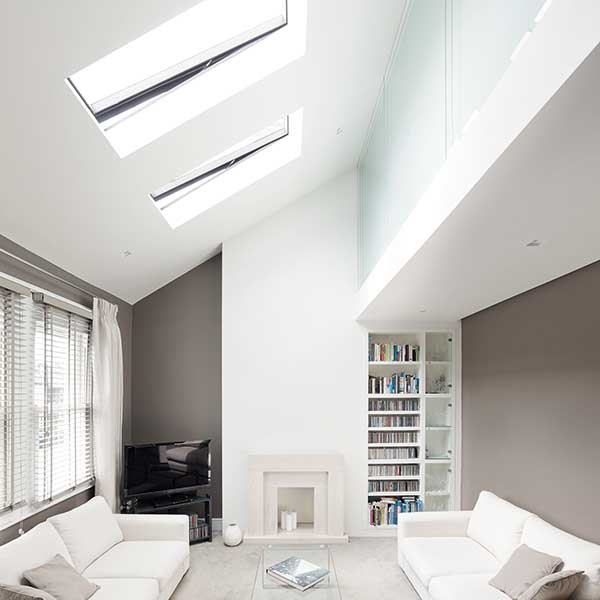 Delightful Vaulted Ceiling Of Loft Conversion Living Space