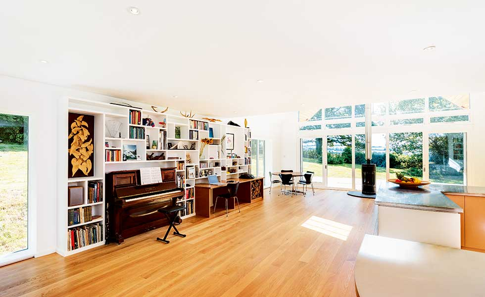varied ceiling heights in a 1960s remodelled home