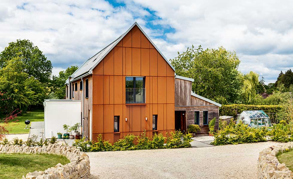 Corten clad barn conversion