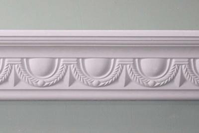 plaster ceiling roses white scalloped design