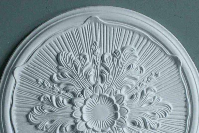 plaster ceiling rose white flower lines