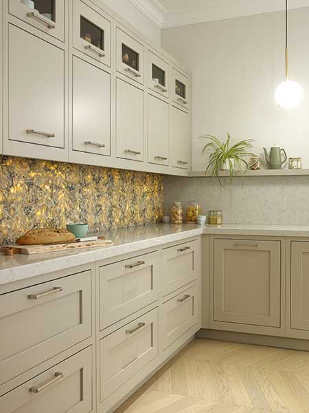 Backlit splash backs create a great focal point in the kitchen