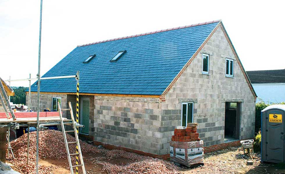 The exterior of David Snell's self build begins to take shape