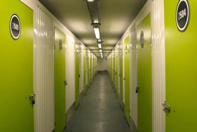 the storage pod green doors