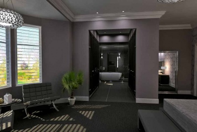 bagno bathroom purple rooms