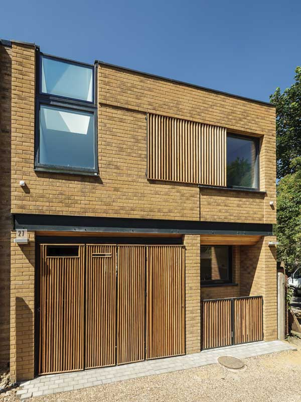 Brick facade of London Passivhaus