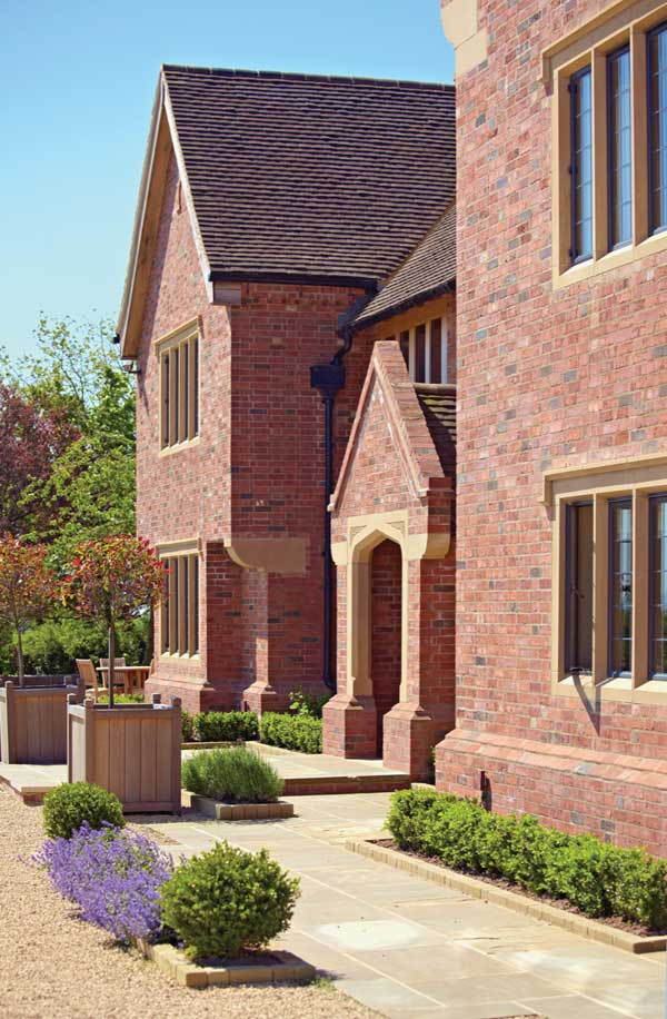 Traditional brick home - exterior elevation