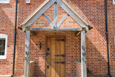brick house entrance porch