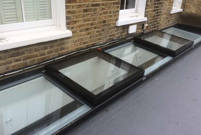 roofglaze rooflight flat roof 4 panels