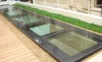 roofglaze rooflight fixed flatglass walk on